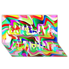 Irritation Colorful Dream Congrats Graduate 3d Greeting Card (8x4)