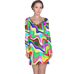 Irritation Colorful Dream Long Sleeve Nightdress