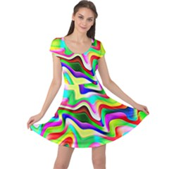 Irritation Colorful Dream Cap Sleeve Dresses