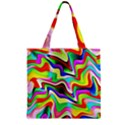 Irritation Colorful Dream Zipper Grocery Tote Bag View2