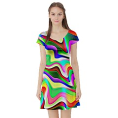 Irritation Colorful Dream Short Sleeve Skater Dress