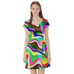 Irritation Colorful Dream Short Sleeve Skater Dress