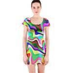Irritation Colorful Dream Short Sleeve Bodycon Dress