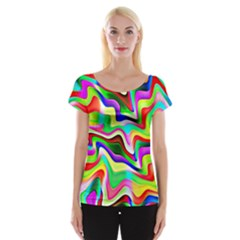 Irritation Colorful Dream Women s Cap Sleeve Top
