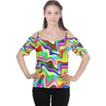Irritation Colorful Dream Women s Cutout Shoulder Tee