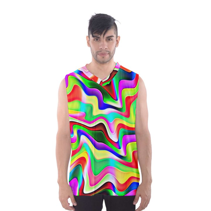 Irritation Colorful Dream Men s Basketball Tank Top