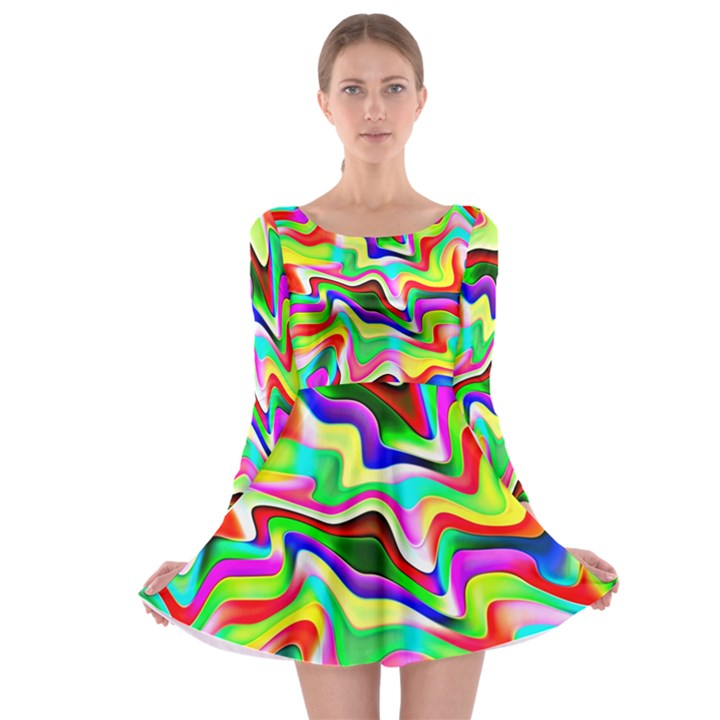 Irritation Colorful Dream Long Sleeve Skater Dress