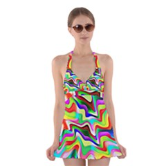 Irritation Colorful Dream Halter Swimsuit Dress