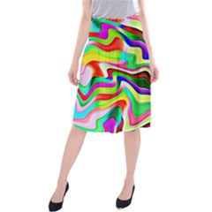 Irritation Colorful Dream Midi Beach Skirt