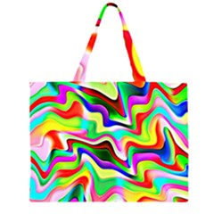 Irritation Colorful Dream Zipper Large Tote Bag