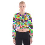 Irritation Colorful Dream Women s Cropped Sweatshirt