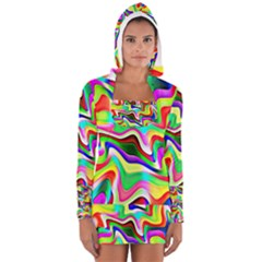 Irritation Colorful Dream Women s Long Sleeve Hooded T-shirt