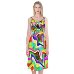 Irritation Colorful Dream Midi Sleeveless Dress