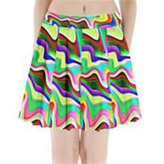 Irritation Colorful Dream Pleated Mini Skirt