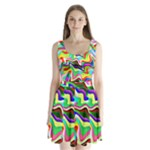 Irritation Colorful Dream Split Back Mini Dress