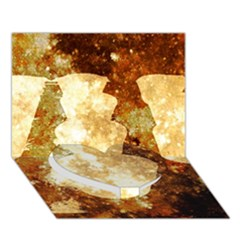 Sparkling Lights Heart Bottom 3D Greeting Card (7x5)