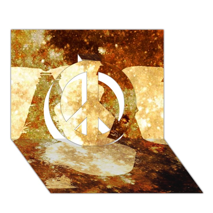 Sparkling Lights Peace Sign 3D Greeting Card (7x5)