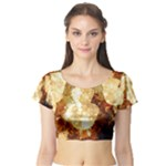 Sparkling Lights Short Sleeve Crop Top (Tight Fit)