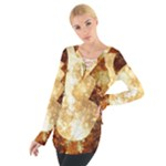 Sparkling Lights Women s Tie Up Tee