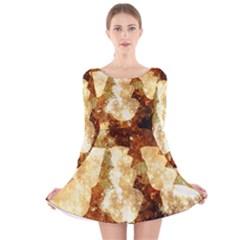Sparkling Lights Long Sleeve Velvet Skater Dress