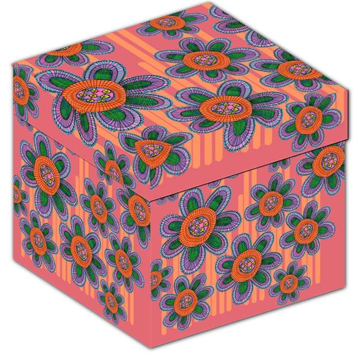 Colorful Floral Dream Storage Stool 12