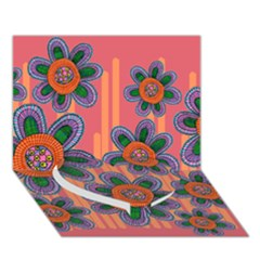 Colorful Floral Dream Heart Bottom 3d Greeting Card (7x5) by DanaeStudio