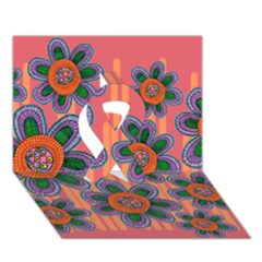 Colorful Floral Dream Ribbon 3d Greeting Card (7x5) by DanaeStudio