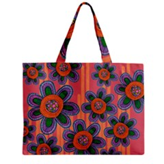 Colorful Floral Dream Zipper Mini Tote Bag by DanaeStudio