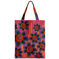 Colorful Floral Dream Zipper Classic Tote Bag by DanaeStudio