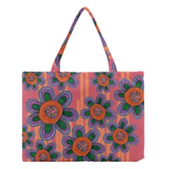 Colorful Floral Dream Medium Tote Bag by DanaeStudio