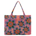 Colorful Floral Dream Medium Zipper Tote Bag View1