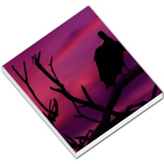 Vultures At Top Of Tree Silhouette Illustration Small Memo Pads by dflcprints