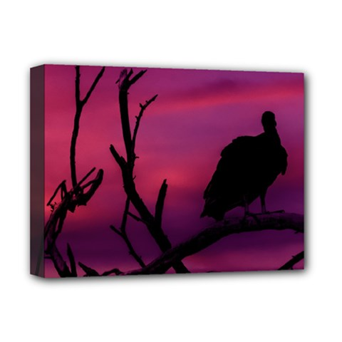 Vultures At Top Of Tree Silhouette Illustration Deluxe Canvas 16  X 12   by dflcprints
