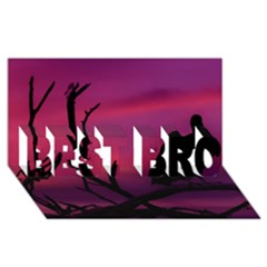 Vultures At Top Of Tree Silhouette Illustration Best Bro 3d Greeting Card (8x4)
