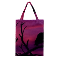 Vultures At Top Of Tree Silhouette Illustration Classic Tote Bag by dflcprints