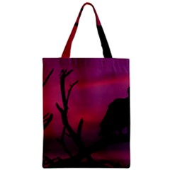 Vultures At Top Of Tree Silhouette Illustration Zipper Classic Tote Bag