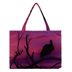 Vultures At Top Of Tree Silhouette Illustration Medium Tote Bag by dflcprints
