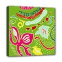 Green Organic Abstract Mini Canvas 8  x 8  View1
