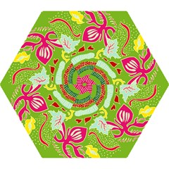 Green Organic Abstract Mini Folding Umbrellas by DanaeStudio