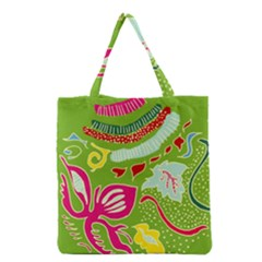 Green Organic Abstract Grocery Tote Bag