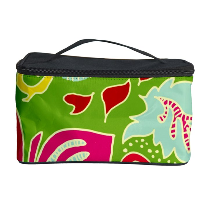 Green Organic Abstract Cosmetic Storage Case