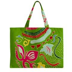 Green Organic Abstract Zipper Mini Tote Bag