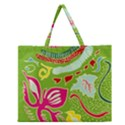 Green Organic Abstract Zipper Large Tote Bag View1