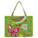 Green Organic Abstract Medium Zipper Tote Bag View1