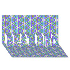 Colorful Retro Geometric Pattern Best Bro 3d Greeting Card (8x4) by DanaeStudio