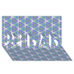 Colorful Retro Geometric Pattern #1 DAD 3D Greeting Card (8x4)