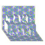 Colorful Retro Geometric Pattern TAKE CARE 3D Greeting Card (7x5)