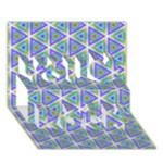 Colorful Retro Geometric Pattern You Rock 3D Greeting Card (7x5)