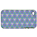 Colorful Retro Geometric Pattern Apple iPhone 4/4S Hardshell Case (PC+Silicone) View1