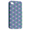 Colorful Retro Geometric Pattern Apple iPhone 4/4S Hardshell Case (PC+Silicone) View2
